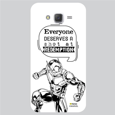 Ant Man Quote White Samsung Galaxy J5 Case Cover
