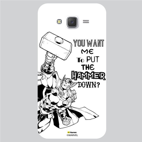 Thor Reaction White Samsung Galaxy J5 Case Cover