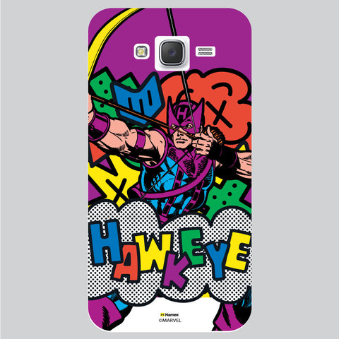 Hawkeye Illustration White Samsung Galaxy J5 Case Cover