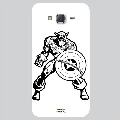 Captain America 3 White Samsung Galaxy J5 Case Cover