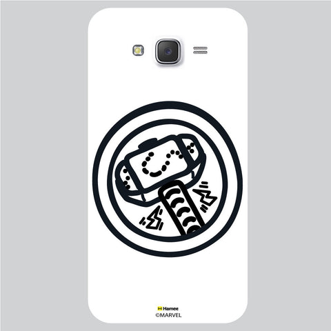 Thor Hammer Bedge White Samsung Galaxy J5 Case Cover