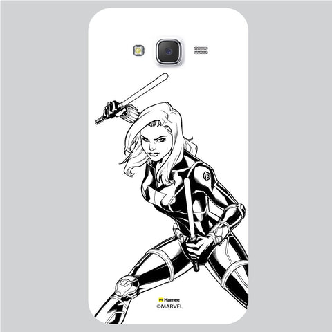 Black Widow Style White Samsung Galaxy J5 Case Cover