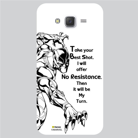 Black Panther Quote White Samsung Galaxy J5 Case Cover