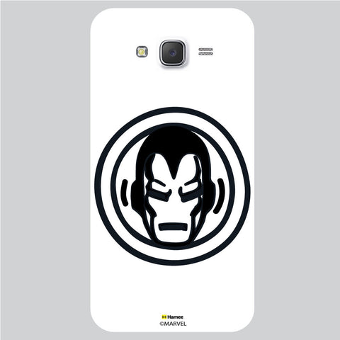 Iron Man Bedge White Samsung Galaxy J5 Case Cover