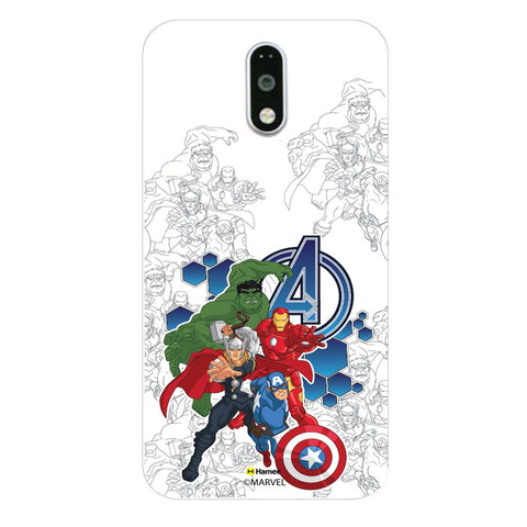 Avengers Group Sketch  Moto G4 Plus Case Cover