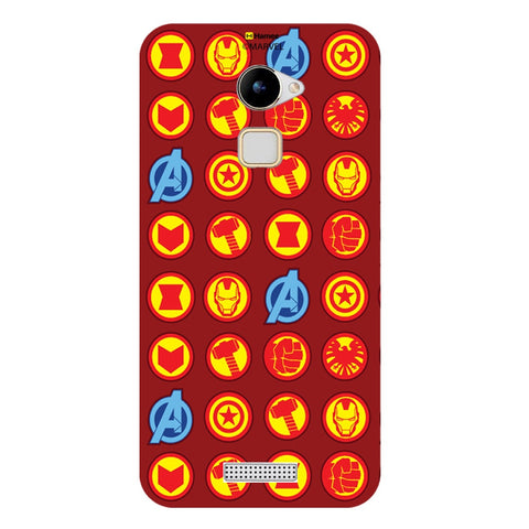 Avengers Icons Red  Coolpad Note 3 Lite Case Cover