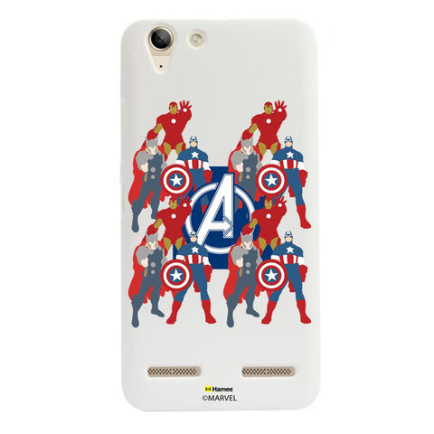 Avengers With Logo Paint  Lenovo A6000 Case Cover