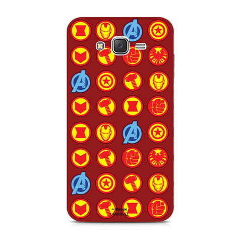 Avengers Icons Red  Samsung Galaxy J7 Case Cover