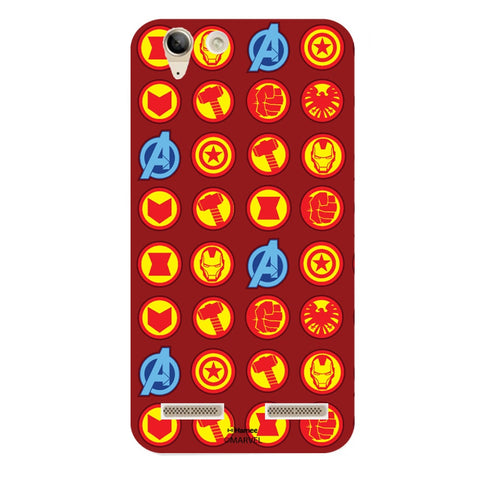 Avengers Icons Red  Lenovo A6000 Case Cover
