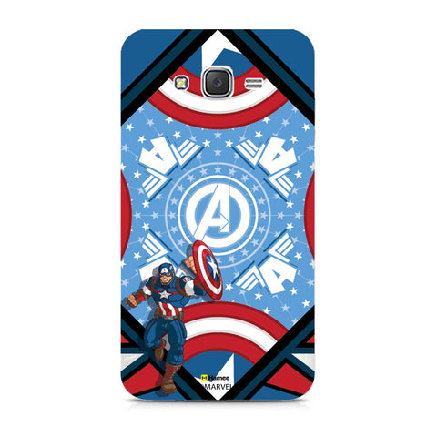 Captain America Blue  Samsung Galaxy J7 Case Cover