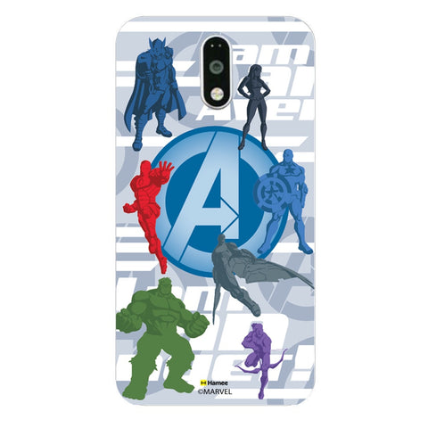 Avengers With Logo Silhouette  Moto G4 Plus Case Cover