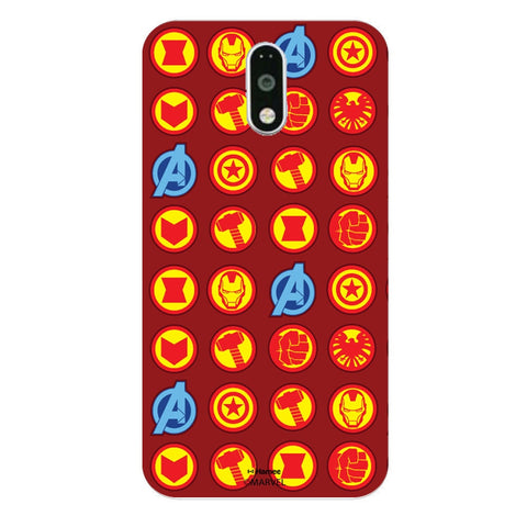 Avengers Icons Red  Moto G4 Plus Case Cover