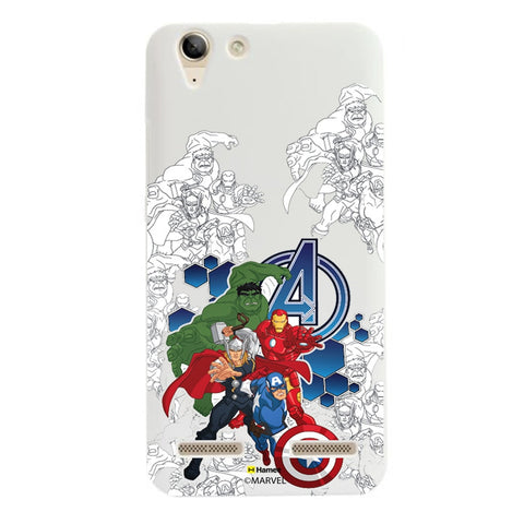 Avengers Group Sketch  Lenovo A6000 Case Cover