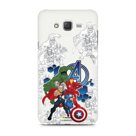 Avengers Group Sketch  Samsung Galaxy J7 Case Cover