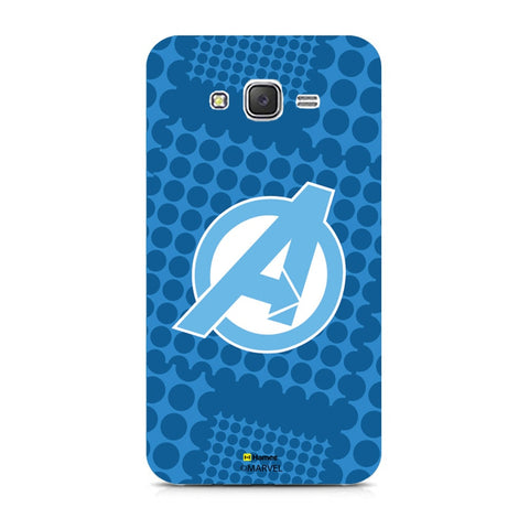 Avengers Logo Blue  Samsung Galaxy J7 Case Cover
