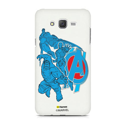 Avengers Group Blue  Samsung Galaxy J7 Case Cover