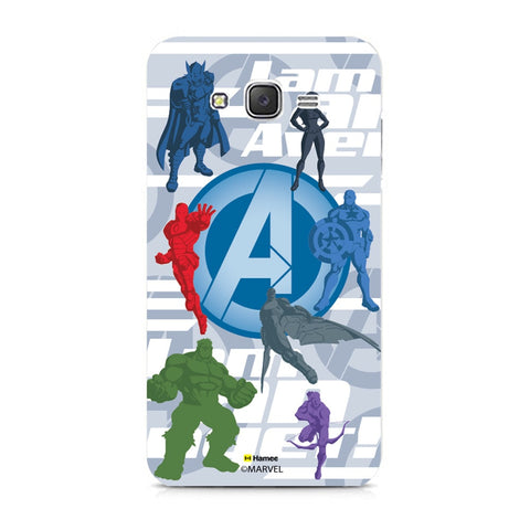 Avengers With Logo Silhouette  Samsung Galaxy J7 Case Cover