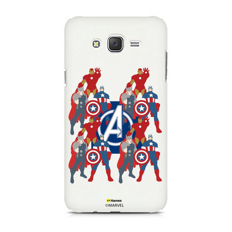 Avengers With Logo Paint  Samsung Galaxy J7 Case Cover