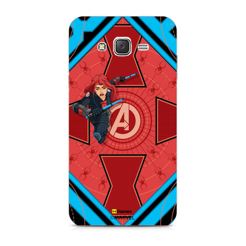 Black Widow Red  Samsung Galaxy J7 Case Cover