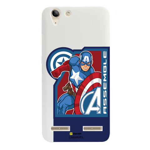 Captain America Corner Blue  Lenovo A6000 Case Cover