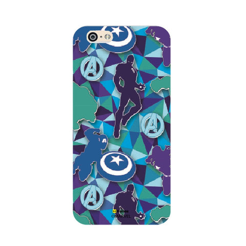 Avengers Silhouette Blue  iPhone 5S/5 Case Cover