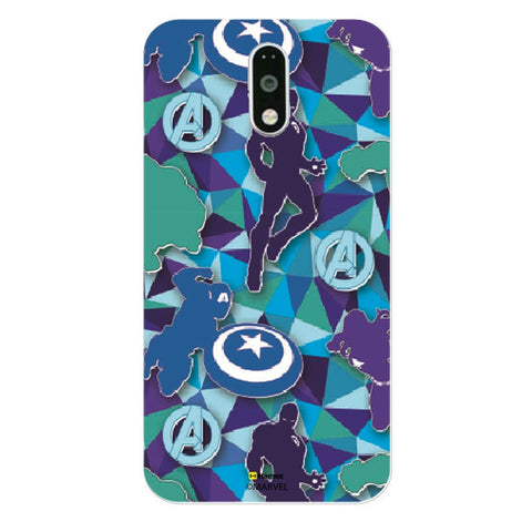 Avengers Silhouette Blue  Moto G4 Plus Case Cover