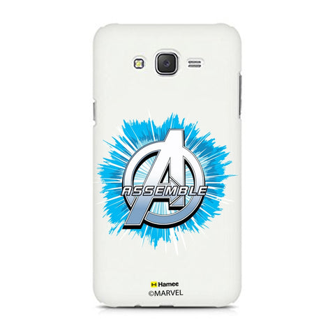 Avengers Logo Blue Burst  Samsung Galaxy J7 Case Cover