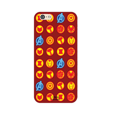 Avengers Icons Red  iPhone 6S/6 Case Cover