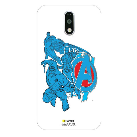 Avengers Group Blue  Moto G4 Plus Case Cover