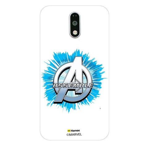 Avengers Logo Blue Burst  Moto G4 Plus Case Cover