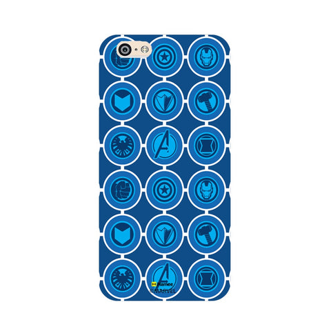Avengers Icons Blue  iPhone 6S/6 Case Cover