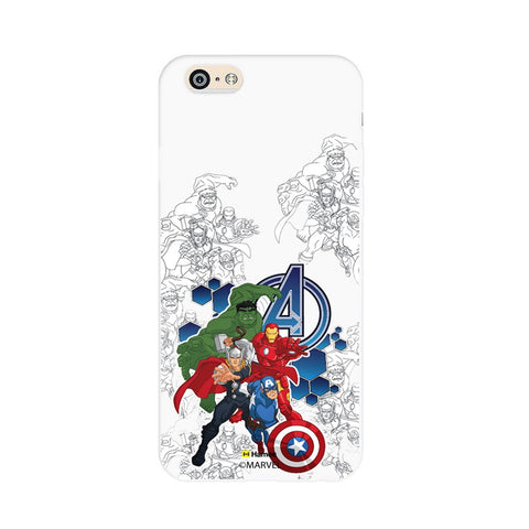 Avengers Group Sketch  iPhone 6S/6 Case Cover