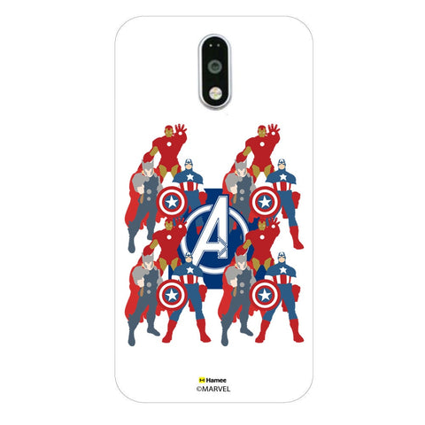 Avengers With Logo Paint  Moto G4 Plus Case Cover