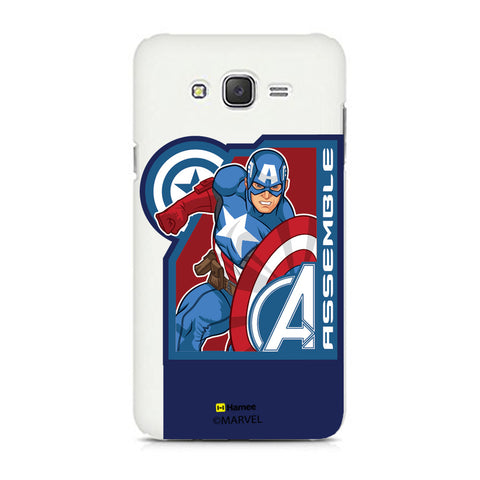 Captain America Corner Blue  Samsung Galaxy J7 Case Cover