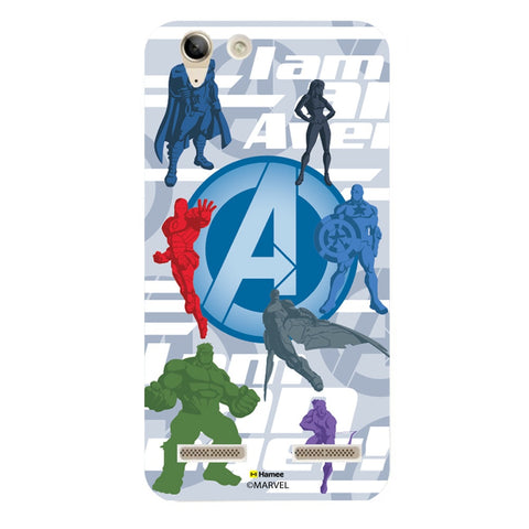 Avengers With Logo Silhouette  Lenovo A6000 Case Cover