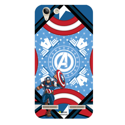 Captain America Blue  Lenovo A6000 Case Cover
