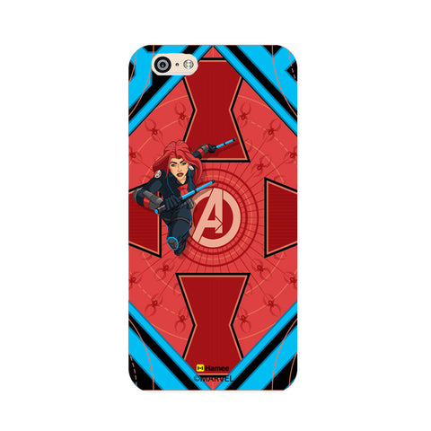 Black Widow Red  Oppo F1 Case Cover