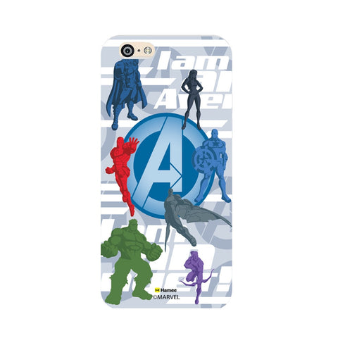 Avengers With Logo Silhouette  Oppo F1 Case Cover