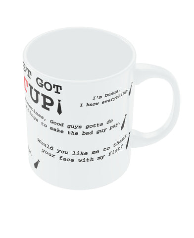 Suits TV Show Harvey Spector Coffee Mug | PosterGuy.in