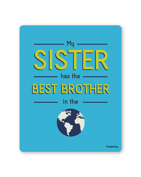 Mouse Pads | Best brother Mouse pad Gift for Brother (Blue) Online India | PosterGuy.in