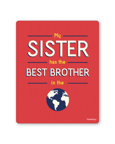 Mouse Pads | Best Brother in the World Red Mouse Pad Gift for Brother Online India | PosterGuy.in