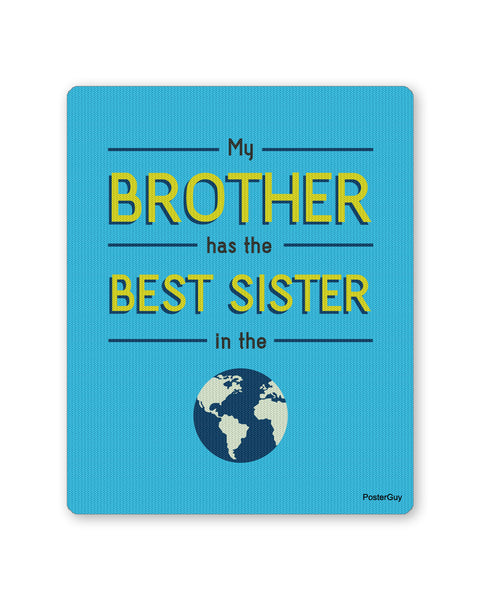 Mouse Pads | Best Sister in the World Mouse Pad Gift (Blue) Online India | PosterGuy.in