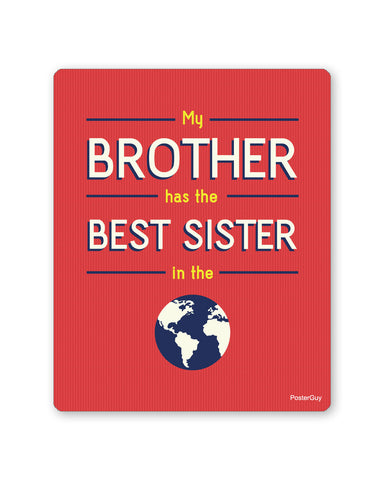 Mouse Pads | Best Sister in the World White Mouse pad Gift (Red) Online India | PosterGuy.in