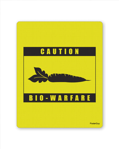Mouse Pads | Bio - Warfare Caution Designer Mouse Pad Yellow Online India | PosterGuy.in