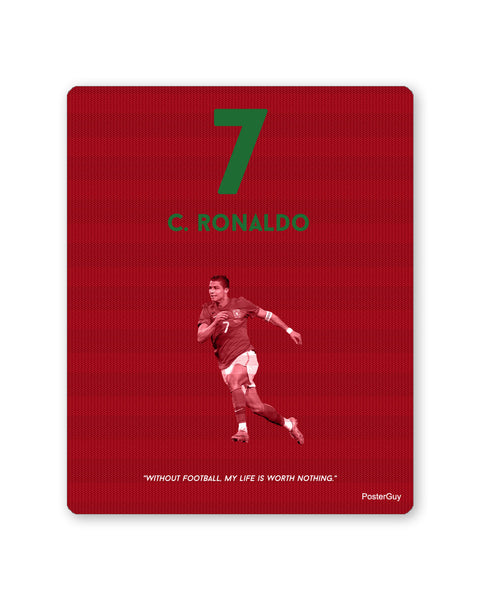 Mouse Pads | Christiano Ronaldo Football Mouse Pad Online India | PosterGuy.in