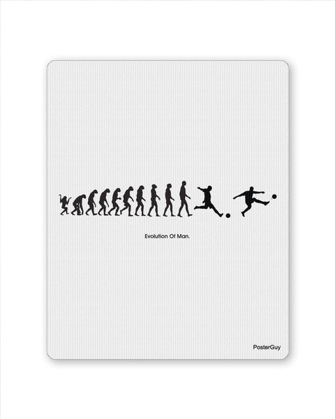 Mouse Pads | Evolution of Man and Football Mouse Pad Online India | PosterGuy.in