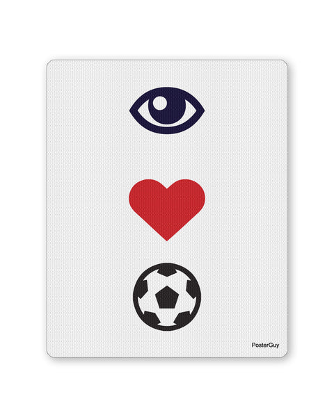 Mouse Pads | I Love Football Mouse Pad Online India | PosterGuy.in