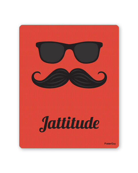 Mouse Pads | Jattitude Red Multi-Coloured Mouse Pad Online India | PosterGuy.in