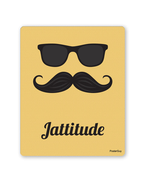 Mouse Pads | Jattitude Yellow Coloured Gaming Mouse Pad Online India | PosterGuy.in