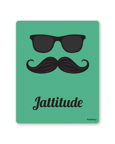 Mouse Pads | Jattitude Green Coloured Gaming Mouse Pad Online India | PosterGuy.in